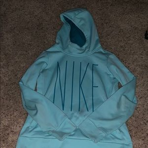 blue Nike sweatshirt